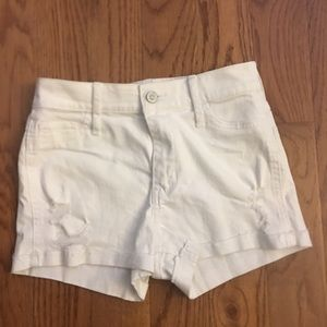 Hollister white denim shorts size 0